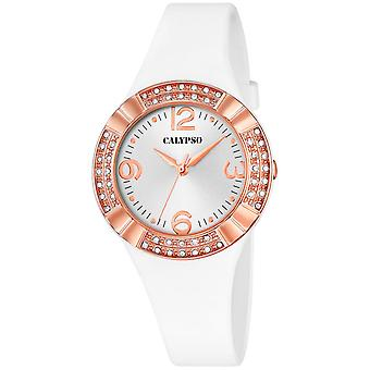 Calypso watch watches K5659-1 - watch Silicone white woman