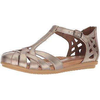 Cobb Hill Womens Cobb Hill Leather Round Toe Casual T-Strap Sandals