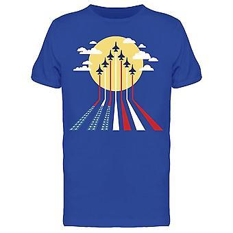 Yhdysvaltain lippu Ilma Tee Men's -Kuva Shutterstock