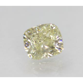 Certified 2.13 Carat J Color SI2 Cushion Natural Loose Diamond 7.39x6.76mm 2EX
