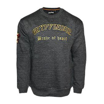 Hp201 licensed unisex harry potter gryffindor embroidered sweatshirt