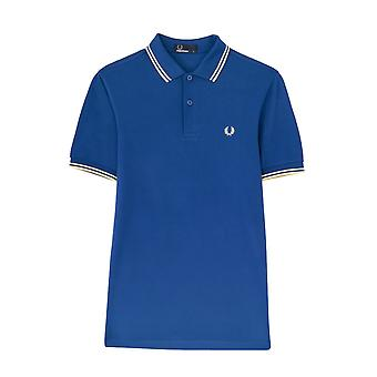 Fred Perry Twin getipt FP Blauw Shirt Polo