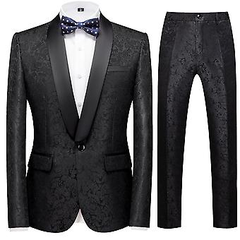 Allthemen Men's Banquet 2Pcs Suits Blazer&Plants 5 Colors