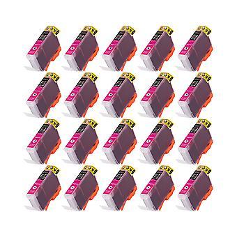 """روديتوس 20 x الاستبدال لكانون CLI-08:00 م """"الحبر وحدة أرجواني متوافق"""" مع Pixma iP4200، iP4300، iP4500، iP5100، iP5200، iP5200R، iP5300، MP500، MP530، MP600، MP600R، MP610، MP800، MP800R، MP810، MP8"""