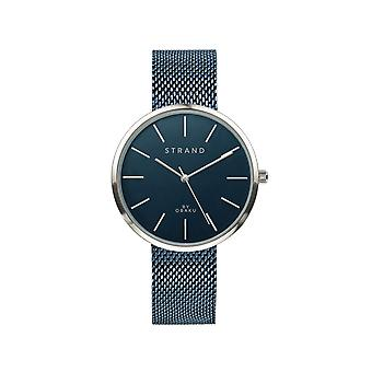 Strand By Obaku S700LXCLML Sunset-Arctic Blue Tone Mesh Wristwatch