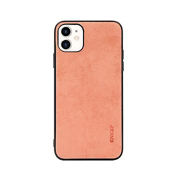 Voor iPhone 11 Case Fabric Texture Soft Slim Protective Fashionable Cover Orange