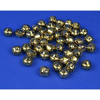 72 Gold 10mm Jingle Bells for Crafts