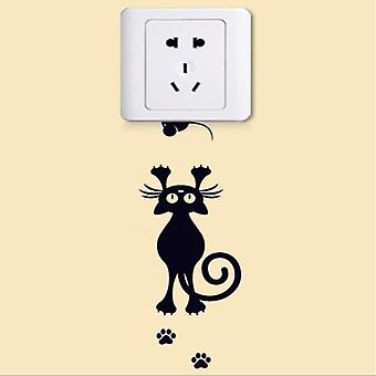 Cute Sleeping Cat Dog Stickers - Wall Home Decor Stickers