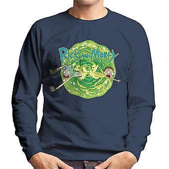 Rick e Morty Portale Jump Uomini's Sweatshirt