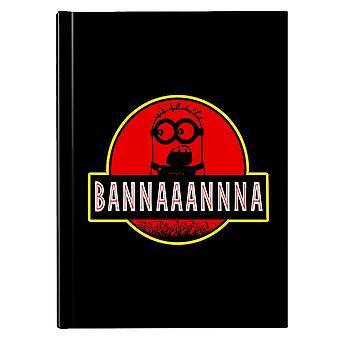 Minions Jurassic Park Banana Hardback Journal