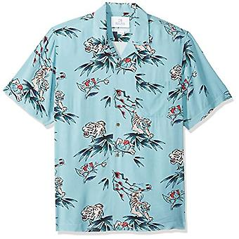 28 Palms Men's Standard-Fit Vintage Washed 100% Rayon Tropical Hawaiian Shirt...