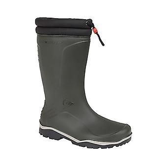 Dunlop Blizzard Unisex Warm Lined Wellington Boots Green