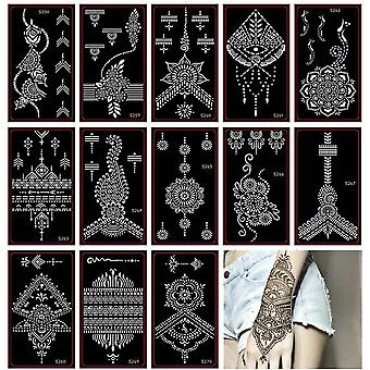 Airbrush Tattoo Stencil Indian, Temporary Glitter-template For Body Art
