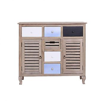 REBECCA Möbelkabinett Cupboard Vintage Shabby Wood 6 Schubladen 2 Türen Living Zimmer Lounge