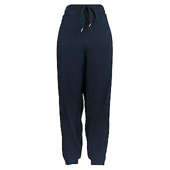 AnyBody Women's Pants French Terry Jogger w/ Snaps Blue A372612