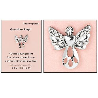 Platinum Plated Guardian Angel Pin Badge - From Above - Cracker Filler Gift