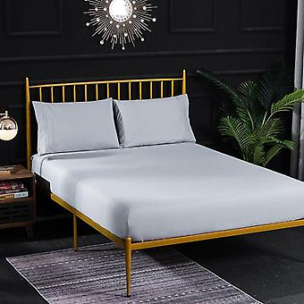 Solid Color Flat Bed Sheet, Bed Mattress Protective Cover - Soft Sanding Bed