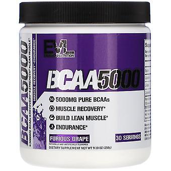 EVLution Nutrition, BCAA5000, Furious Grape, 9.10 oz (258 g)