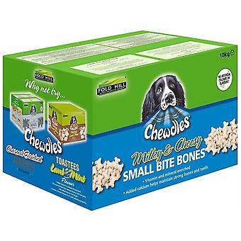 Chewdles Milky Cheesy - Petits os de morsure - 10kg