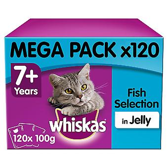 Whiskas 7+ Cat Pouches Fish Selection In Jelly 40x100g Mega Pack