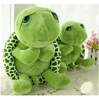 Army Green Big Eyes Turtle Plush Toy Aniversário, Natal
