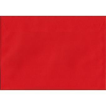 Pillar Box Peel/sigillo rosso C5/A5 colorate buste rosse. Carta certificata FSC di lusso 120gsm. 162 x 229 mm. portafoglio stile busta.