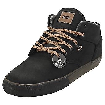 Globe Motley Mid Mens Chukka Trainers in Black Brown