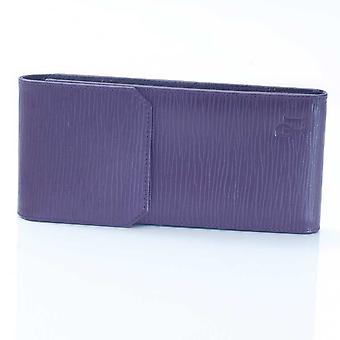 Aubergine Oak Grain Leather Glasses Case
