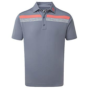 Footjoy Mens Stretch Pique Chestband Wicking Golf Polo Shirt
