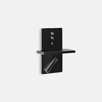 Leds-C4 Elamp - LED Lesen USB Licht Schwarz Gold 175lm 2700K