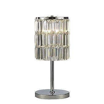 Crystal Curtain Table Lamp 3 Licht gepolijst chroom