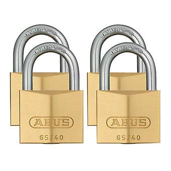ABUS 65/40mm Brass Padlock Quad Pack ABU6540QPK