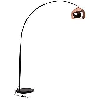 BRILLANTE Lámpara Nereide Lámpara de Archienemigo 2.0m negro/cobre ? 1x A60, E27, 60W, adecuado para lámparas normales (no incluidas)