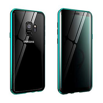 Stuff Certified® Samsung Galaxy A8 2018 Magnetic 360 ° Case with Tempered Glass - Full Body Cover Case + Green Screen Protector