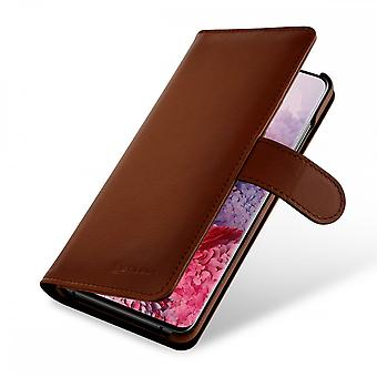 Case For Samsung Galaxy S20 Talis Brown Wallet In True Leather