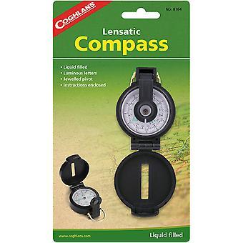 Coghlan's Lensatic Compass met Case, Liquid Filled, Camping Survival Emergency