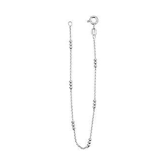 Dew Set Fine Trace Chain 1mm Triple Station Balls 7.5 Bracelet CB0975