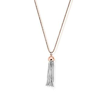 ChloBo Diamond Cut Chain With Rose Capped Tassel Pendant L2 RCDC2937