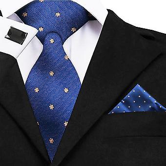 Warwick & Vance Formal Neck Tie, Handkerchief & Cufflinks Luxury Gift Box Sets