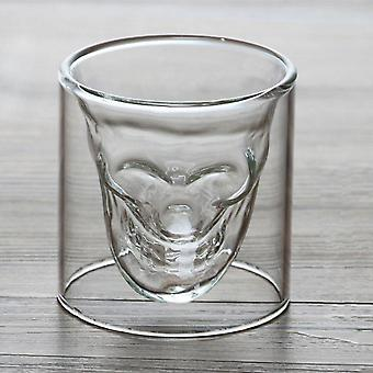 Creative Skull Glass Whisky Vodka Wine Crystal Bottle Cups. Transparent Wine