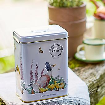 Beatrix potter, jemima puddle-duck tea tin with 40 earl grey teabags