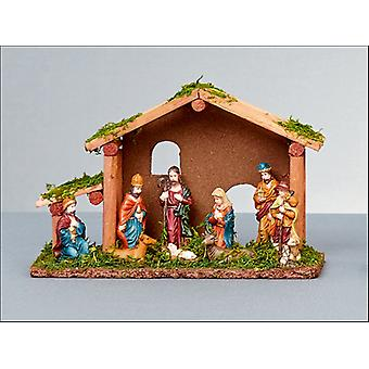Premier Decorations Wooden Nativity Characters 10Pce N162225