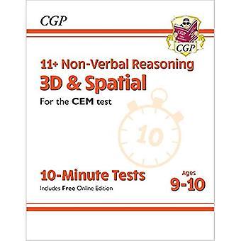 Novos testes de 10 minutos CEM+ CEM: Raciocínio não verbal 3D e Espacial - Idades 9-10 (com edição online)