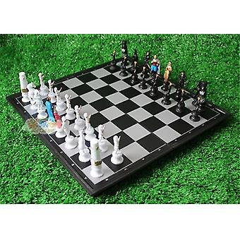 Cartoon Character Magnets Full Set International Chess Pieces, Portable Board