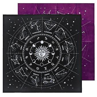 12 Súhvezdia Tarot karty obrus Velvet Veštenie Oltár látkové dosky