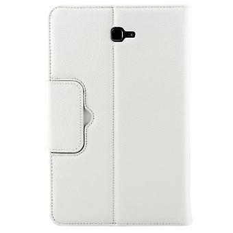 2 in 1 Galaxy Tab A 7.0 (2016) T280 / T285 Erotettavissa Litchi rakenne vaakasuuntainen flip nahkakotelo + Bluetooth-näppäimistö pidikkeellä (valkoinen)