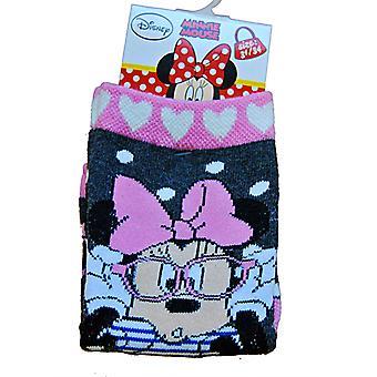 1 Paar Socken mit Minnie Mouse - Grau, 31/34