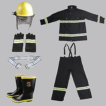 Flame-retardant High-temperature Fire Protective Gloves, Shoes, Helmet, Suit