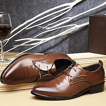 Rochie de moda a subliniat Toe Dantela Up Menăs Business Casual Pantofi