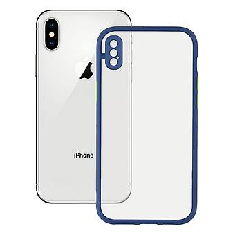 Mobile cover iPhone X , XS KSIX Duo Soft Blue